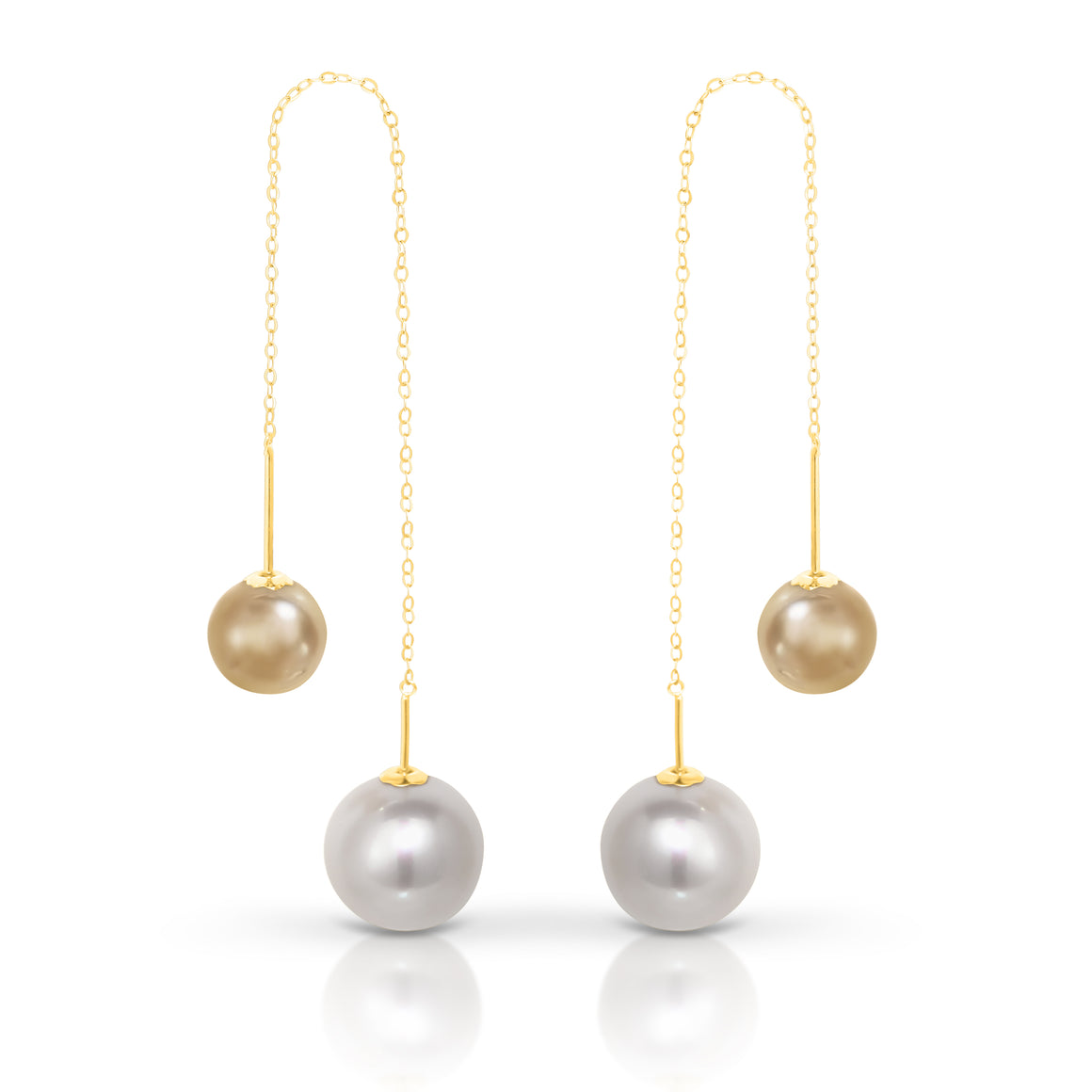 "Gold and Fresh Water Pearl ""Lordes"" Earrings - Gemma Stone Jewellery"