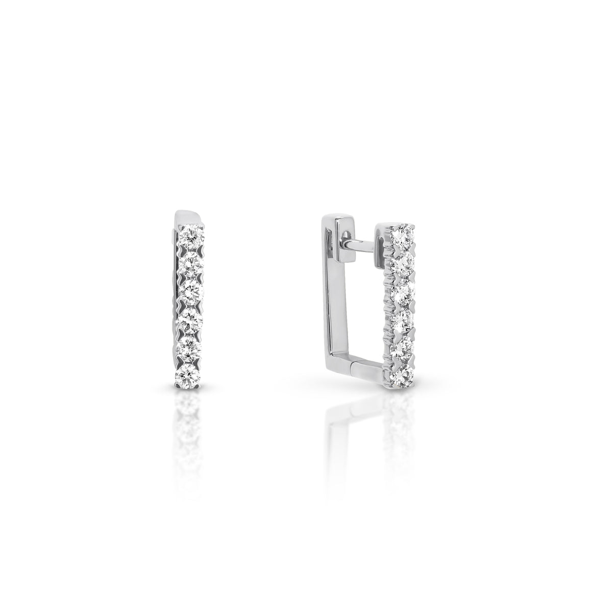 18ct Gold and Diamond 'Geo' Earrings - Gemma Stone  ABN:51 621 127 866
