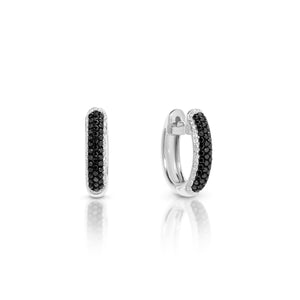 Black and White Diamond Pavé  'Unity' Earrings - Gemma Stone Jewellery
