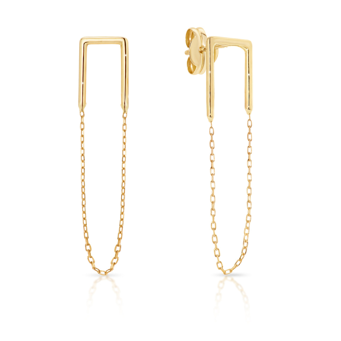9ct Gold Chain 'Caggie' earrings - Gemma Stone  ABN:51 621 127 866