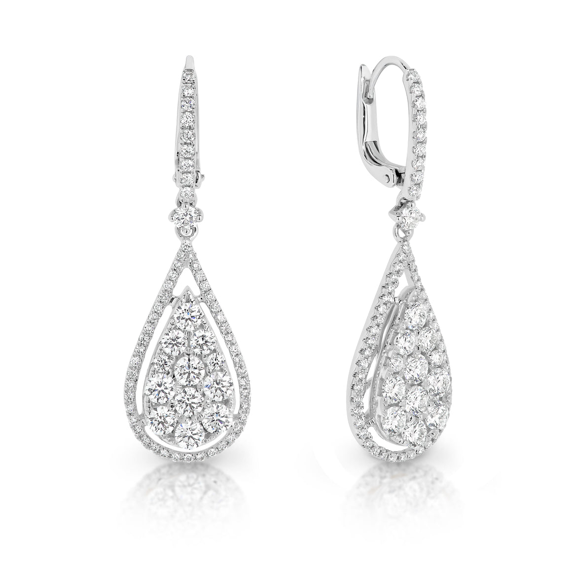 "18ct White Gold and Diamond ""Carlotta"" Earrings - Gemma Stone  ABN:51 621 127 866"