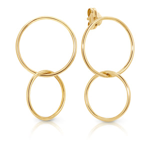 9ct Gold 'Soho' Double Hoop Earrings - Gemma Stone  ABN:51 621 127 866