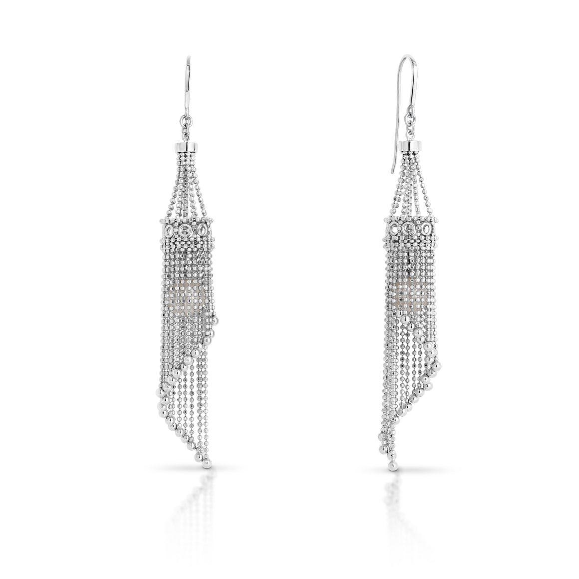"The ""Lexi"" Silver and Pearl Basket Earrings - Gemma Stone  ABN:51 621 127 866"