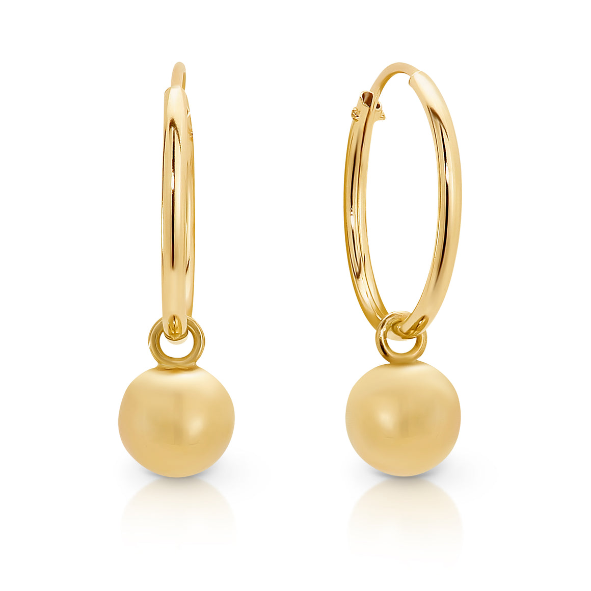 9ct Gold 'Poppy' Hoop Earrings - Gemma Stone  ABN:51 621 127 866