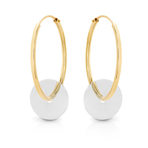 9ct Gold 'Pippa' Hoop Earrings - Gemma Stone  ABN:51 621 127 866