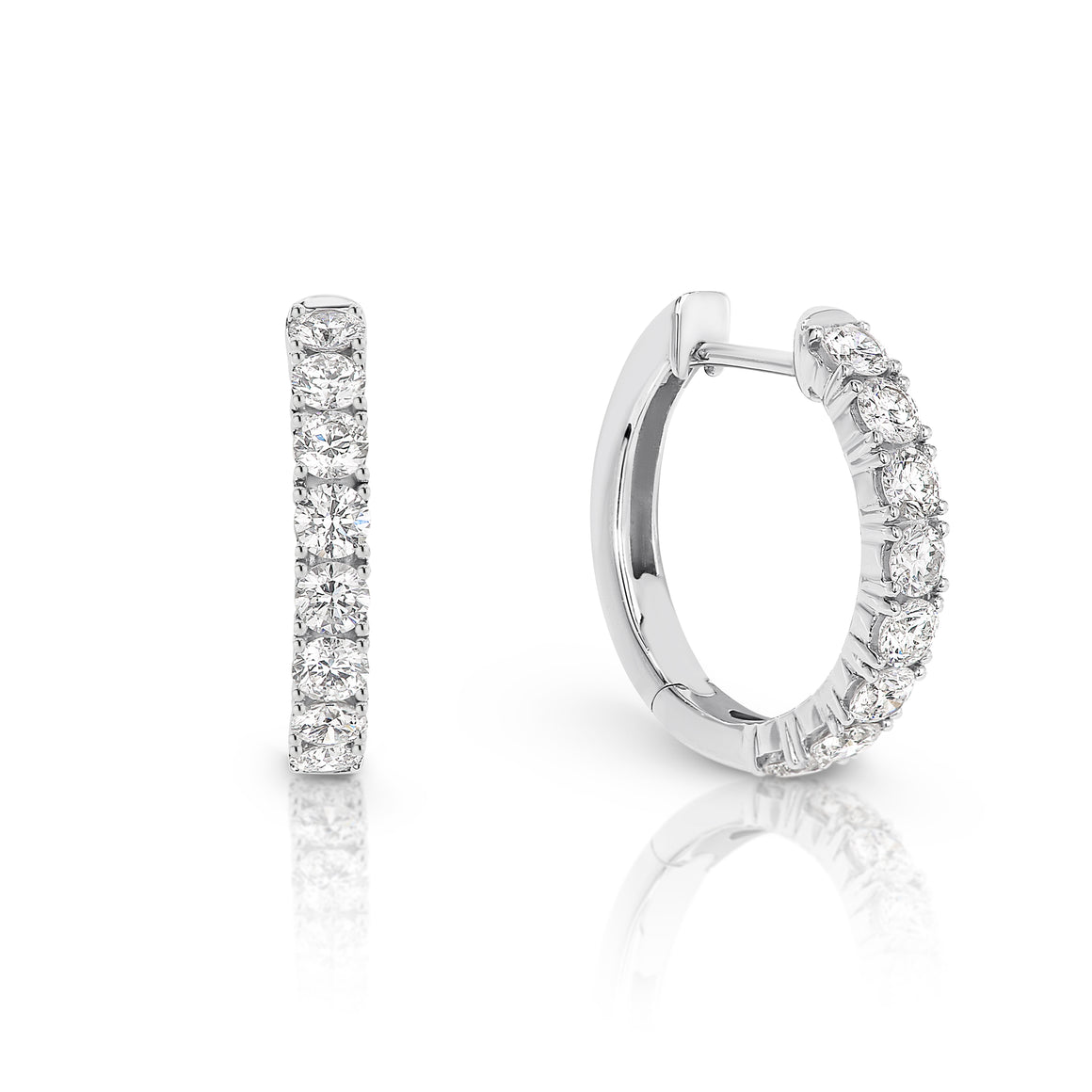 Diamond Hoop 'Cooper' Earrings - Gemma Stone  ABN:51 621 127 866