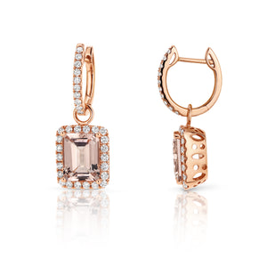 Morganite & Diamond 'Eden' Earrings - Gemma Stone Jewellery