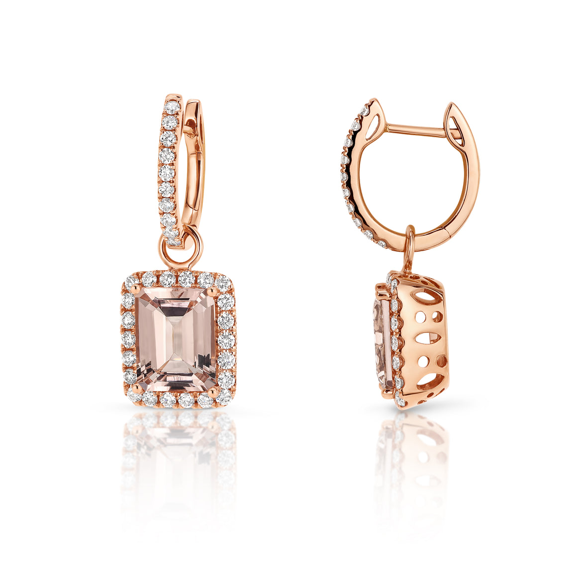 Morganite & Diamond 'Eden' Earrings - Gemma Stone  ABN:51 621 127 866