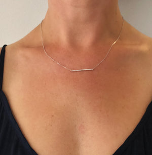 "18ct Diamond ""Bar"" Necklace - Gemma Stone  ABN:51 621 127 866"