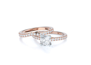 Brilliant Cut Diamond Solitaire 'Austin' Ring with diamond band - Gemma Stone  ABN:51 621 127 866