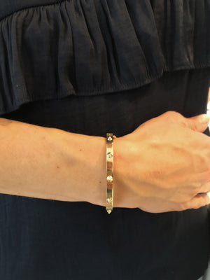 "Signature ""Studded"" Hinged Bangle - Gemma Stone  ABN:51 621 127 866"