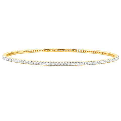 "Yellow Gold ""Tilly"" Diamond Bangle - Gemma Stone  ABN:51 621 127 866"