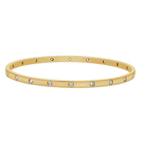 Gold Bangle Punch Sett Diamonds - Gemma Stone Jewellery