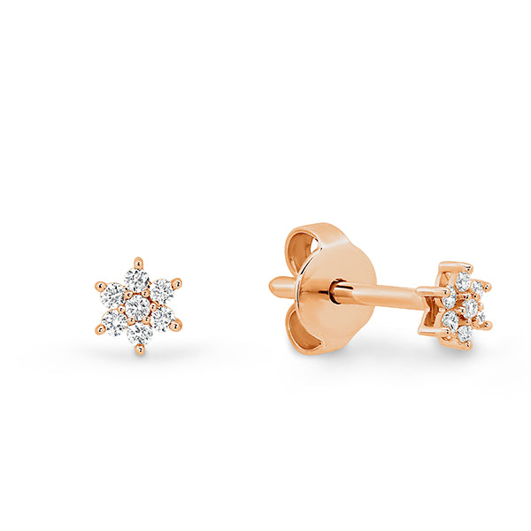Star shaped diamond Studs