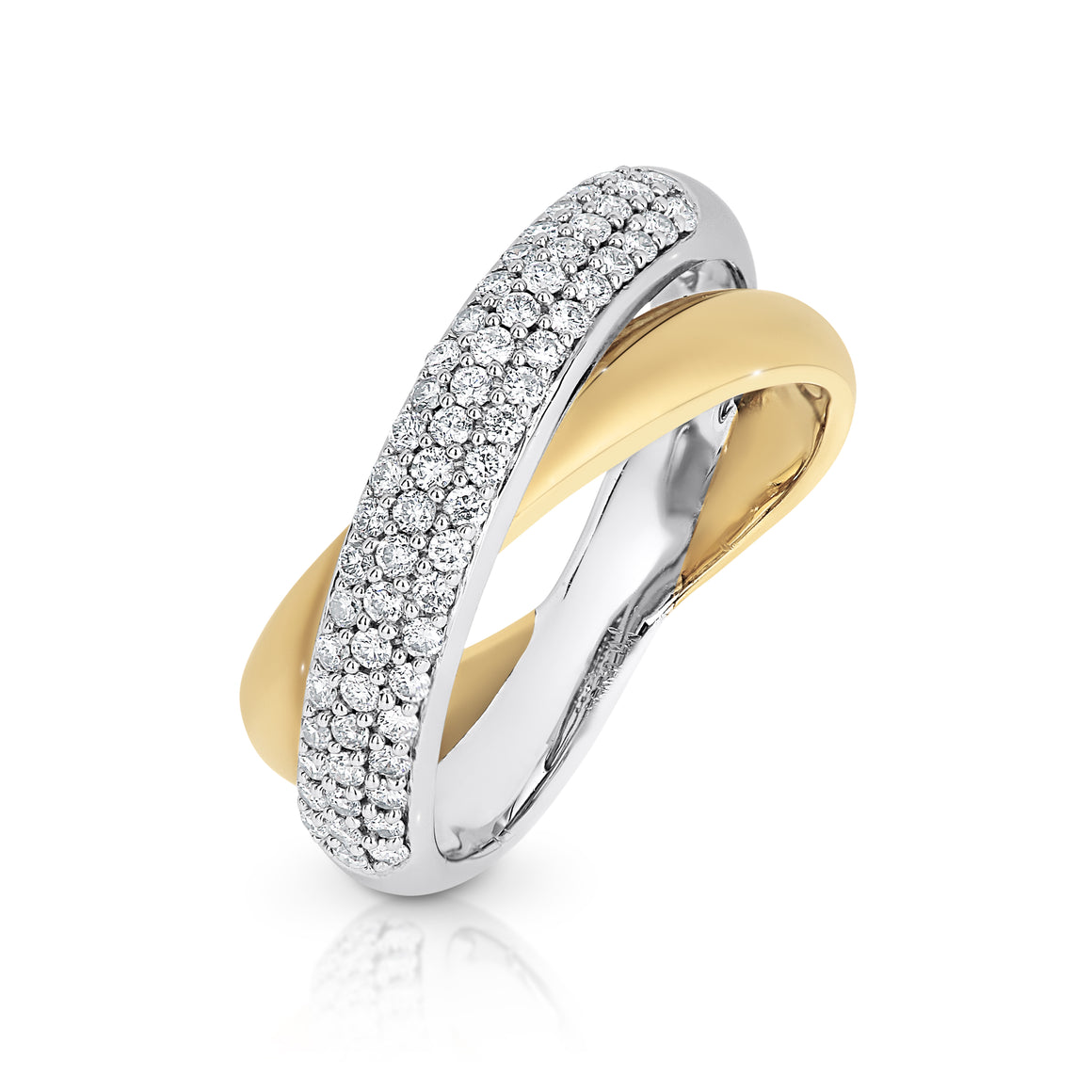 White & Yellow Gold Diamond 'Lanus' Ring - Gemma Stone Jewellery