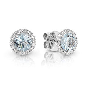Aquamarine & Diamond 'Ivy' Earrings - Gemma Stone Jewellery
