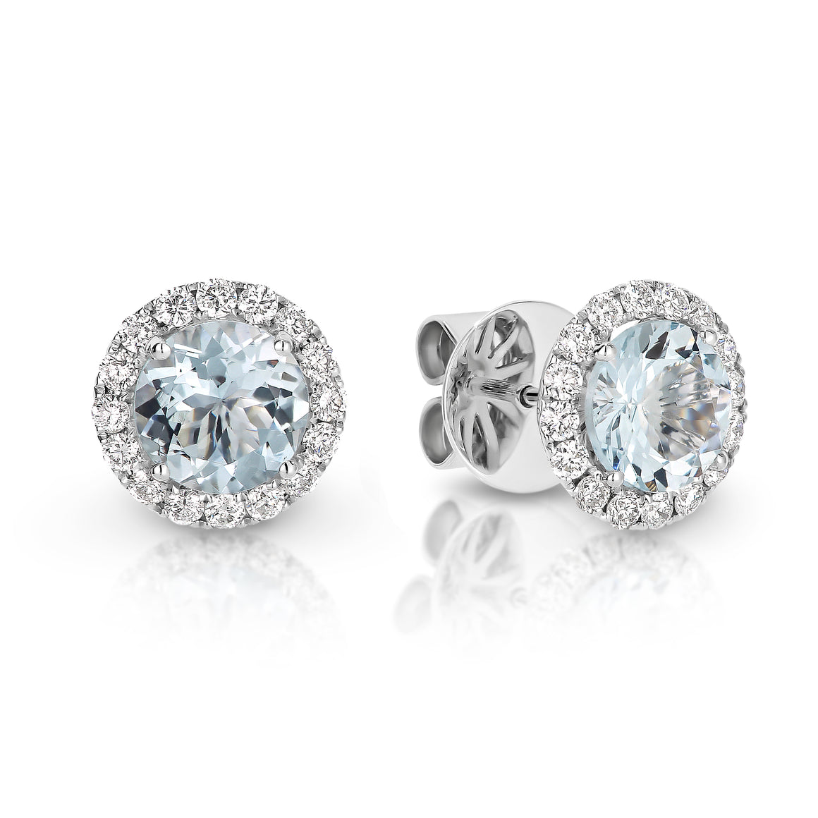 Aquamarine & Diamond 'Ivy' Earrings - Gemma Stone  ABN:51 621 127 866