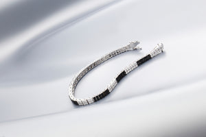 Black & White Diamond 'Boheme' Bracelet - Gemma Stone Jewellery