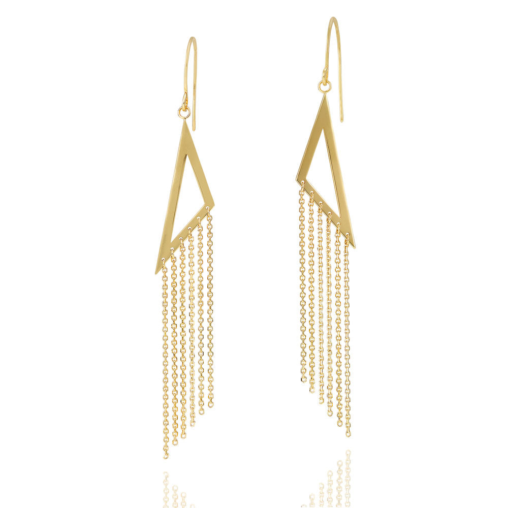 'Xanadu' 9ct Yellow Gold Tassel Earrings - Gemma Stone Jewellery