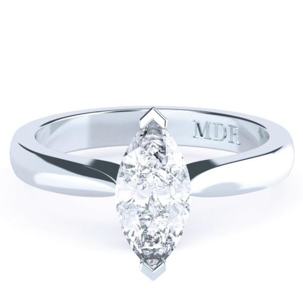 Marquise Diamond Solitaire 'Mecca' Ring - Gemma Stone Jewellery
