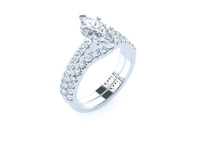 The 'Marilyn' Diamond Fitted Wedding Ring - Gemma Stone  ABN:51 621 127 866