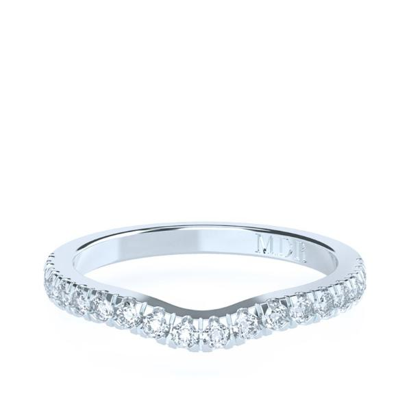 The 'Marilyn' Diamond Fitted Wedding Ring - Gemma Stone Jewellery