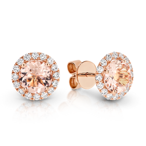 Morganite & Diamond 'Harper' Earrings - Gemma Stone  ABN:51 621 127 866