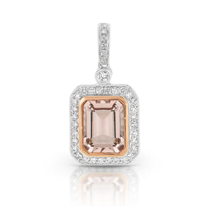 Morganite & Diamond 'Eden' Pendant and chain - Gemma Stone  ABN:51 621 127 866