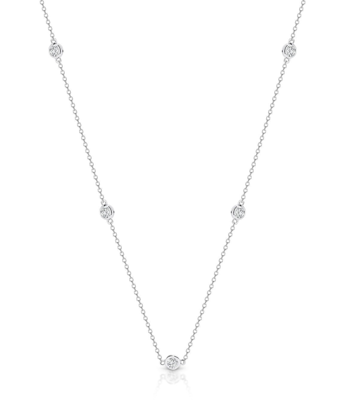 Diamond 'Marchesa' Necklace (45cm) - Gemma Stone Jewellery