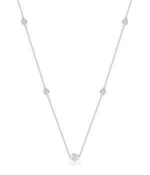 White Gold & Diamond 'Marchesa' Opera Length Necklace (90cm) - Gemma Stone  ABN:51 621 127 866
