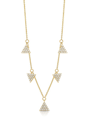 "18ct Diamond ""Trident"" Necklace - Gemma Stone Jewellery"