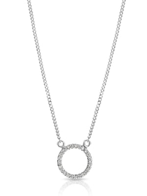 9ct Gold and Diamond 'Moon' Necklace - Gemma Stone Jewellery