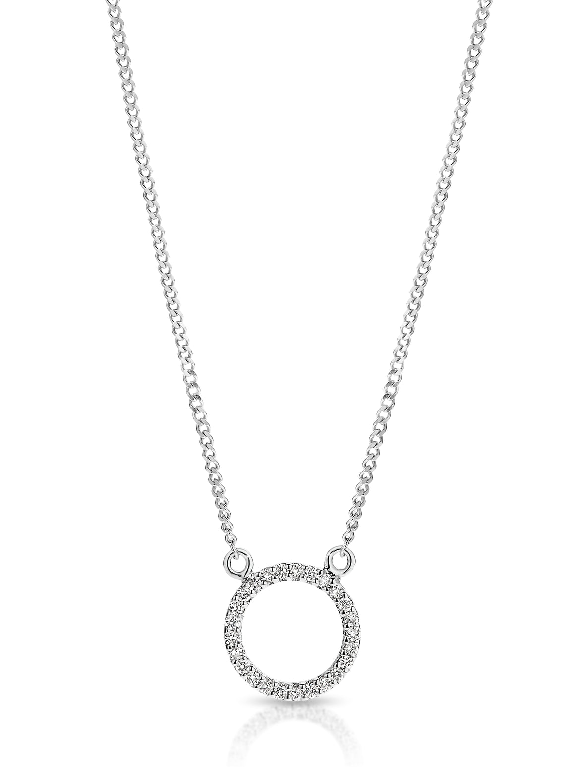 9ct Gold and Diamond 'Moon' Necklace - Gemma Stone  ABN:51 621 127 866