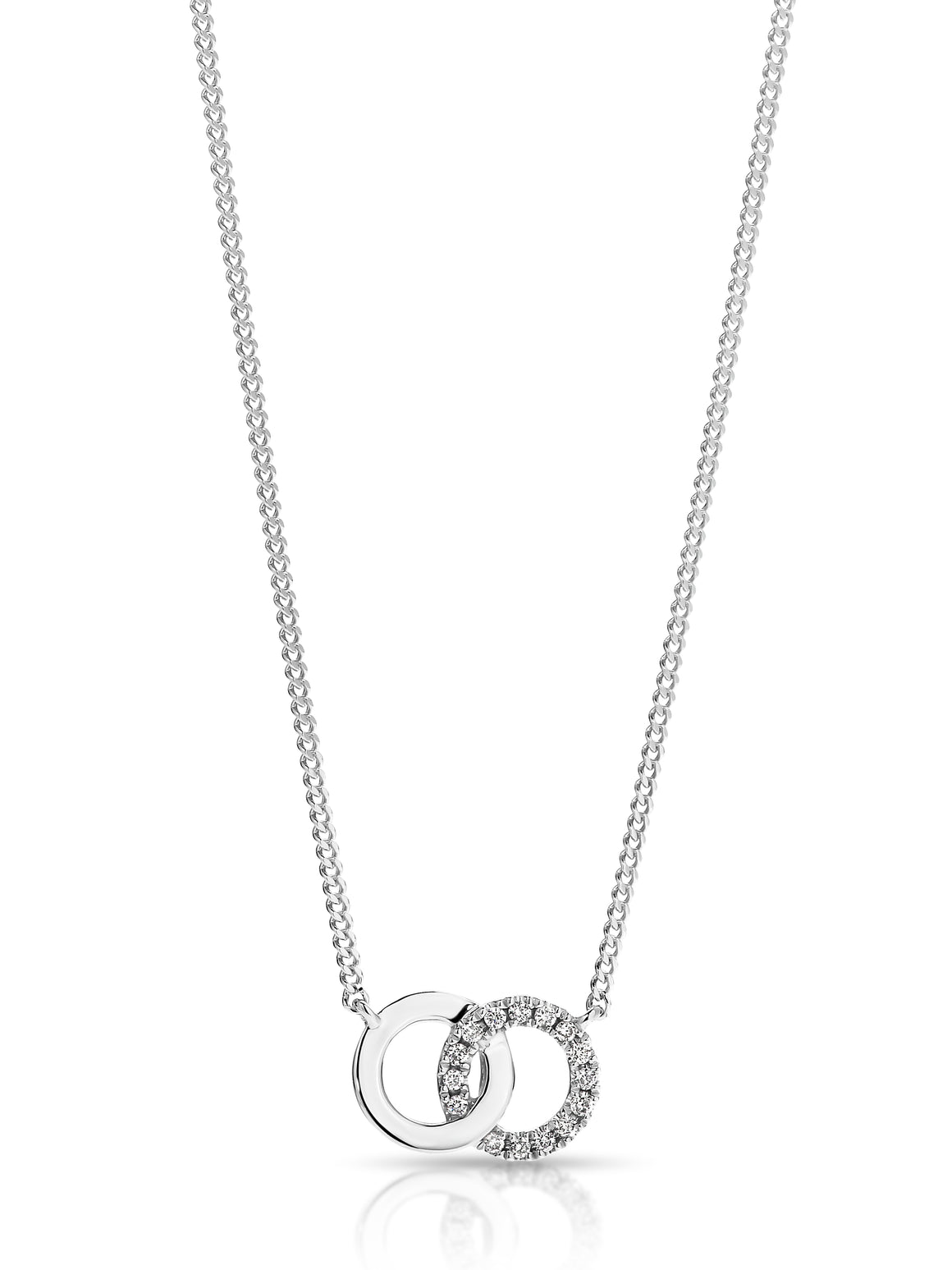 9ct Gold and Diamond 'Infinity Moon' Necklace - Gemma Stone Jewellery