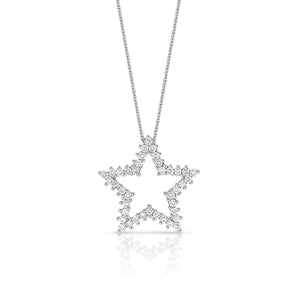 18ct White Gold Diamond Star Necklace - Gemma Stone Jewellery
