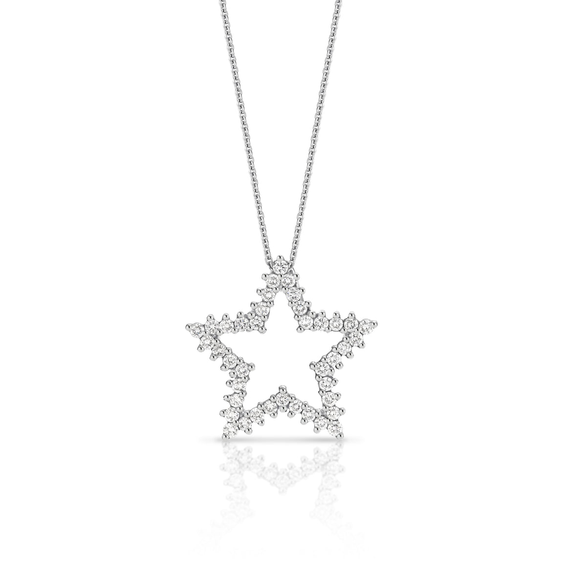 18ct White Gold Diamond Star Necklace - Gemma Stone  ABN:51 621 127 866