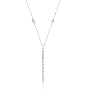 White Gold & Diamond 'Simona' Necklace - Gemma Stone Jewellery