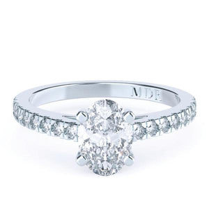 Oval Diamond Solitaire 'Carolina' Ring with diamond band - Gemma Stone  ABN:51 621 127 866