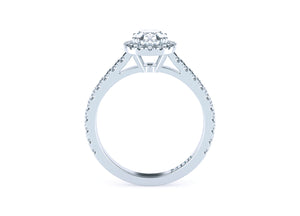 Oval Diamond 'Rachelle' Halo Ring with diamond band - Gemma Stone  ABN:51 621 127 866
