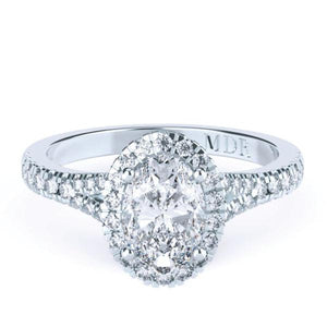 Oval Diamond 'Middleton'Halo Ring with diamond band - Gemma Stone Jewellery