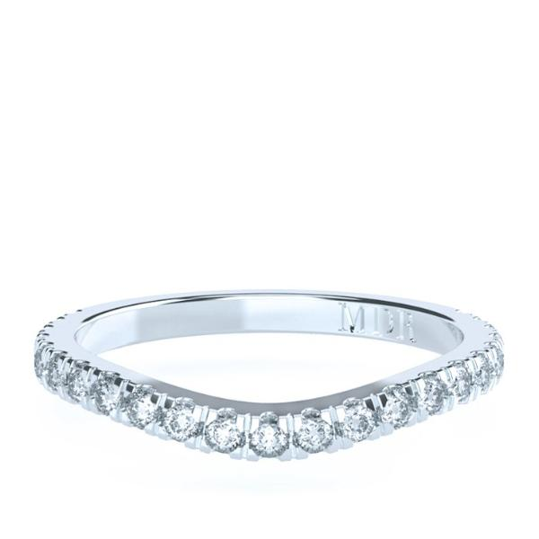 The 'Rachelle' Diamond Fitted Wedding Ring - Gemma Stone Jewellery