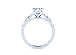 Princess Cut Diamond Solitaire' Tatyanna' Ring with diamond band - Gemma Stone  ABN:51 621 127 866