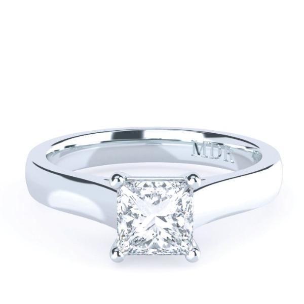Princess Cut Diamond Solitaire' Laredo' Ring - Gemma Stone Jewellery
