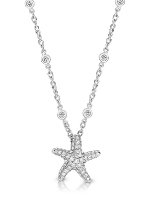 "Platinum and Diamond ""StarFish"" Pendant and Chain - Gemma Stone  ABN:51 621 127 866"
