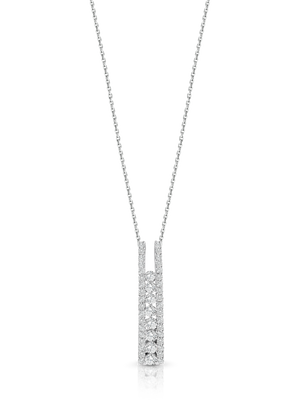 18ct White Gold and Diamond 'Valerie' Pendant and Chain - Gemma Stone Jewellery