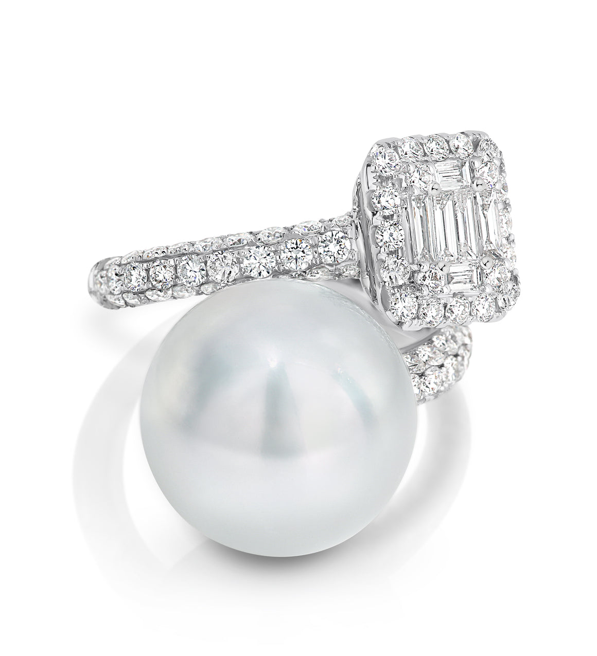 Diamond and South Sea Pearl 'Dominique' Ring - Gemma Stone  ABN:51 621 127 866
