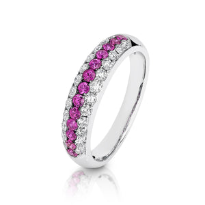 Ruby & Diamond 'Melania' Ring - Gemma Stone Jewellery