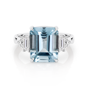 Aquamarine & Diamond 'Chloe' Ring - Gemma Stone Jewellery