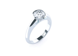 Brilliant Cut Diamond Bezel Set 'Chandler' Ring - Gemma Stone  ABN:51 621 127 866