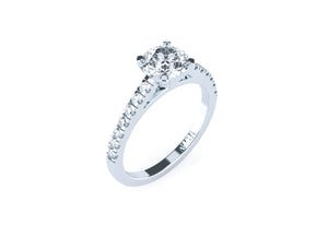 Brilliant Cut Diamond Solitaire 'Brooklyn' Ring with diamond band - Gemma Stone  ABN:51 621 127 866